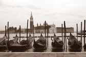 Sepia toned cityscape of Venice — Stock Photo