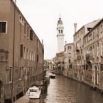 Sepia toned cityscape of Venice — Stock Photo
