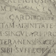 Medieval latin catholic inscription — Stock Photo #1234534