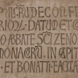 Medieval latin catholic inscription — Photo