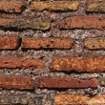 Eski kırık kırmızı tuğla dokusu — Stok fotoğraf