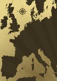 Illustration carte europe — Photo