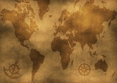 Old world map illustration — Stock Photo