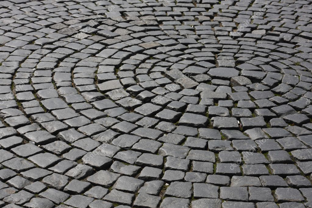 Abstract old medieval granite cobble road texture  Stock Photo #1233419