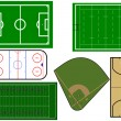 Royalty-Free Stock Imagem Vetorial: Sport fields  illustration