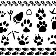 Royalty-Free Stock Vector Image: Animal and bird footsteps vector