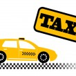 Taxi car illustration - Stock Vector
