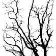 Tree branches silhouette - Stock vektor