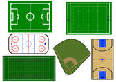 Sport fields illustration — 图库矢量图片