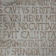 Medieval latin catholic inscription — Stock Photo #1242297