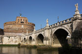 San Angelo bridge and castle in Rome — Stock Photo