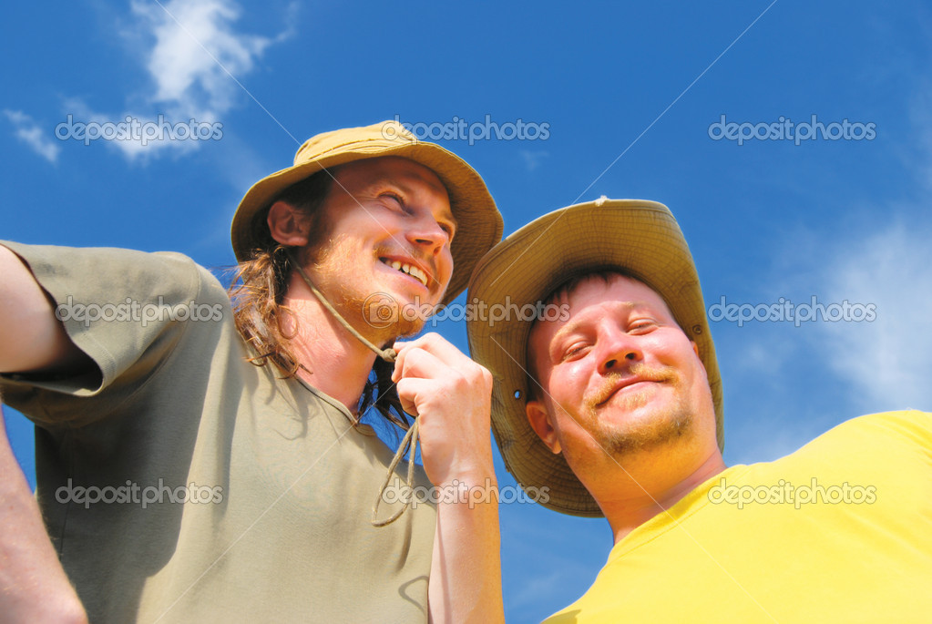 Portrait of peasant young men — Stock Photo #1243688