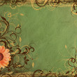 Stockfoto: Background from vintage green paper