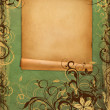 Frame on vintage green paper — Foto de Stock