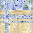 Christmas background from gift paper — Foto de stock #1439149