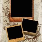Three palaroid frames — Stock Photo