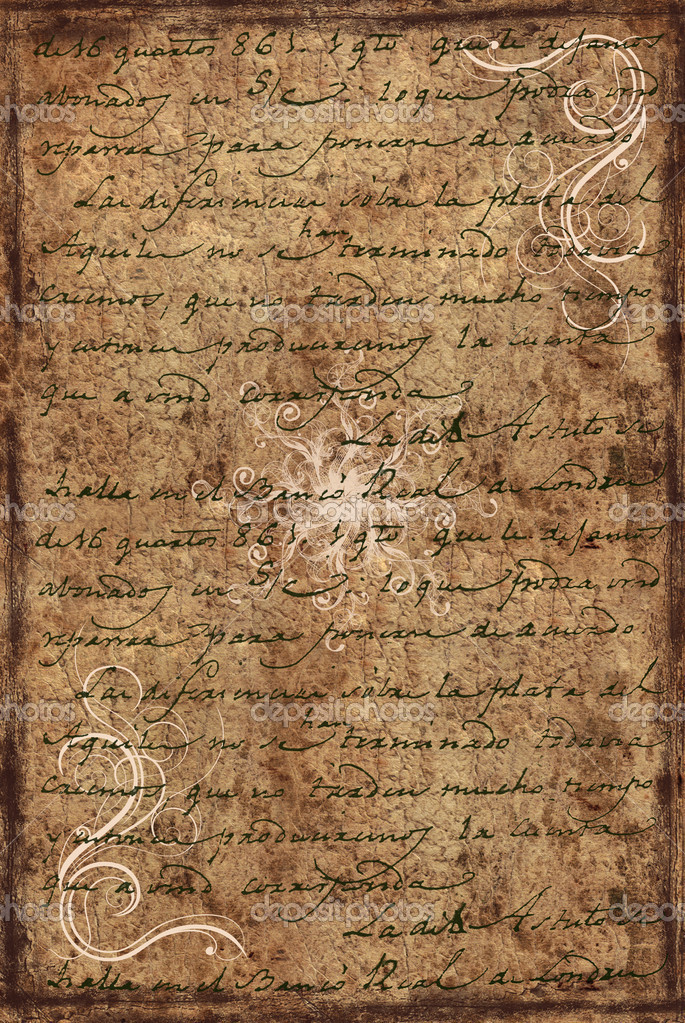 Background from old letter  Stock Photo #2038804