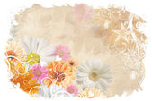 Floral wedding background — Stock Photo