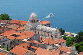 CATHEDRAL OF ST JAMES , SIBENIK CROATIA. — Stock Photo