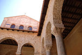 Euphrasius basilica in Porec, Croatia — Stock Photo