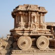 Stock Photo: Chariot in vittalltemple in Hampi.
