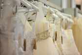 A few beautiful wedding dresses — 图库照片
