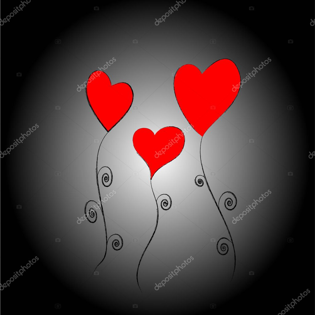 Three Hearts   Stock Photo #1215819