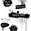 Set of blots for Halloween — Stockfoto