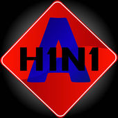 H1N1 swine flu sign — Stock Photo