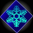 Sign Snowflake — Stock Photo