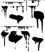 Ink splat designs in black and white — Stock Photo