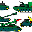 Stock Photo: Set of military vehicles