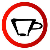 Red sign coffee — Stock Photo