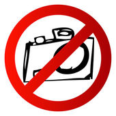 No Taking Pictures — Stock Photo