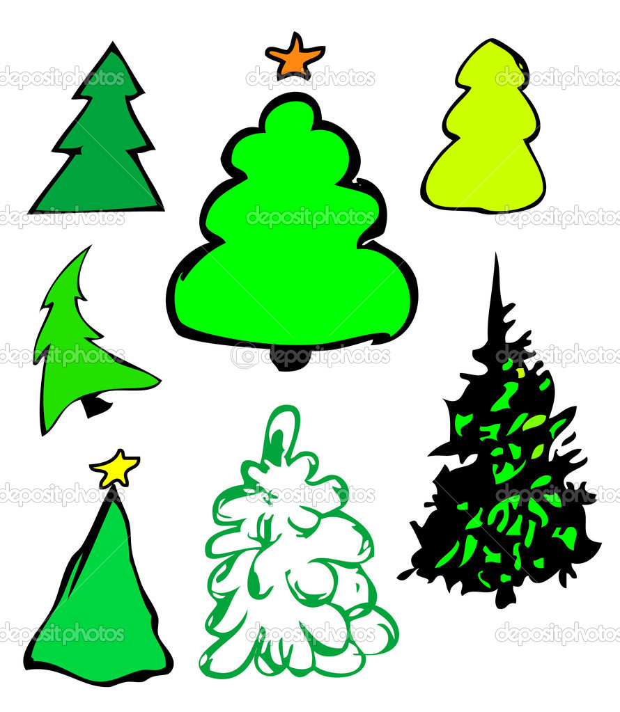 Fur-trees illustration  — Stockfoto #1628114