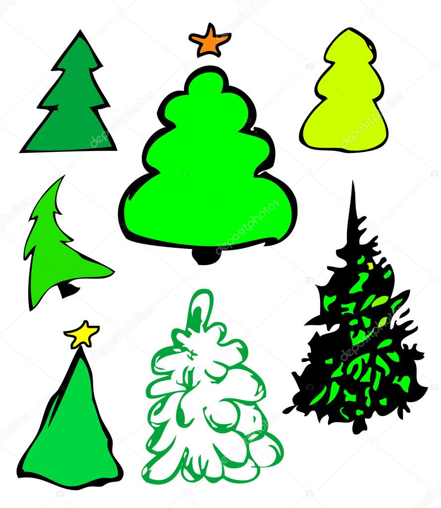 Fur-trees illustration  — Foto Stock #1628114