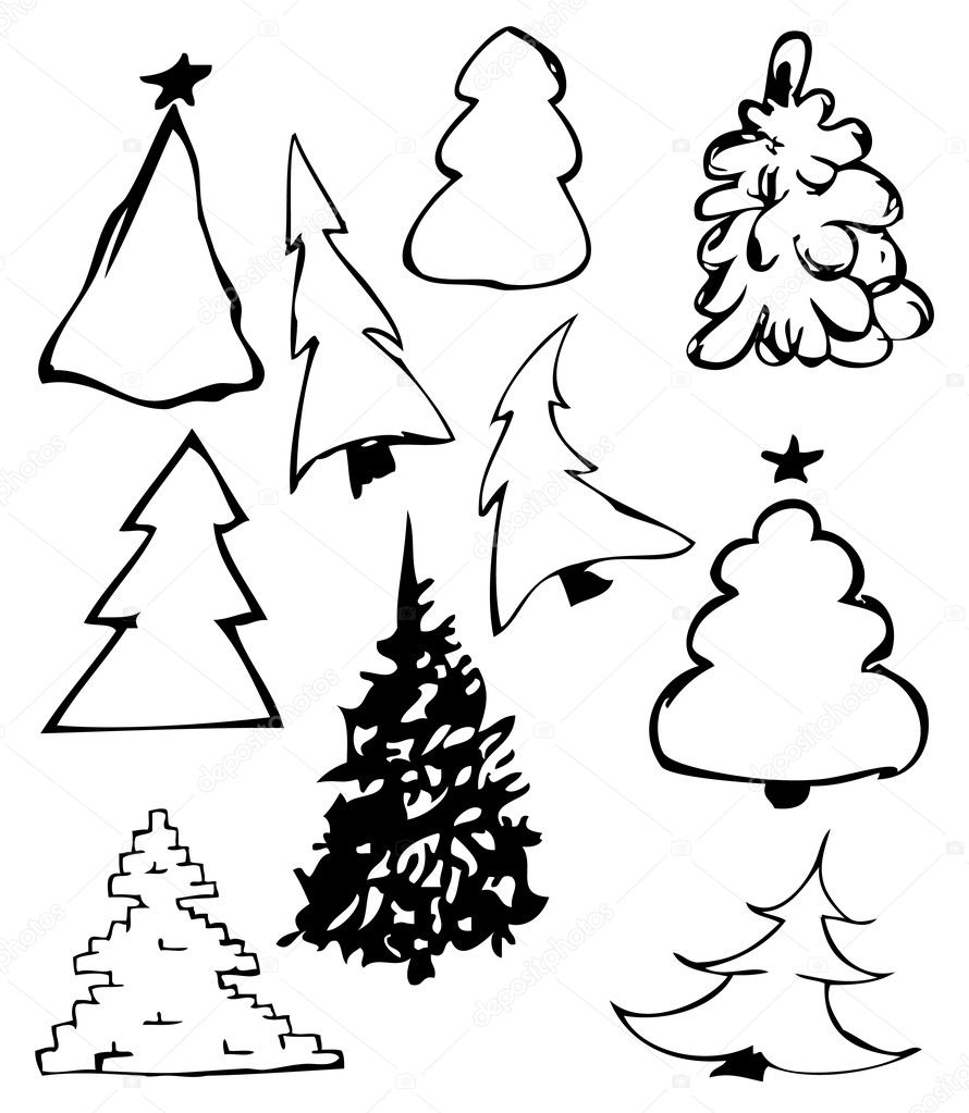 Fur-trees illustration  — Stock Photo #1628123