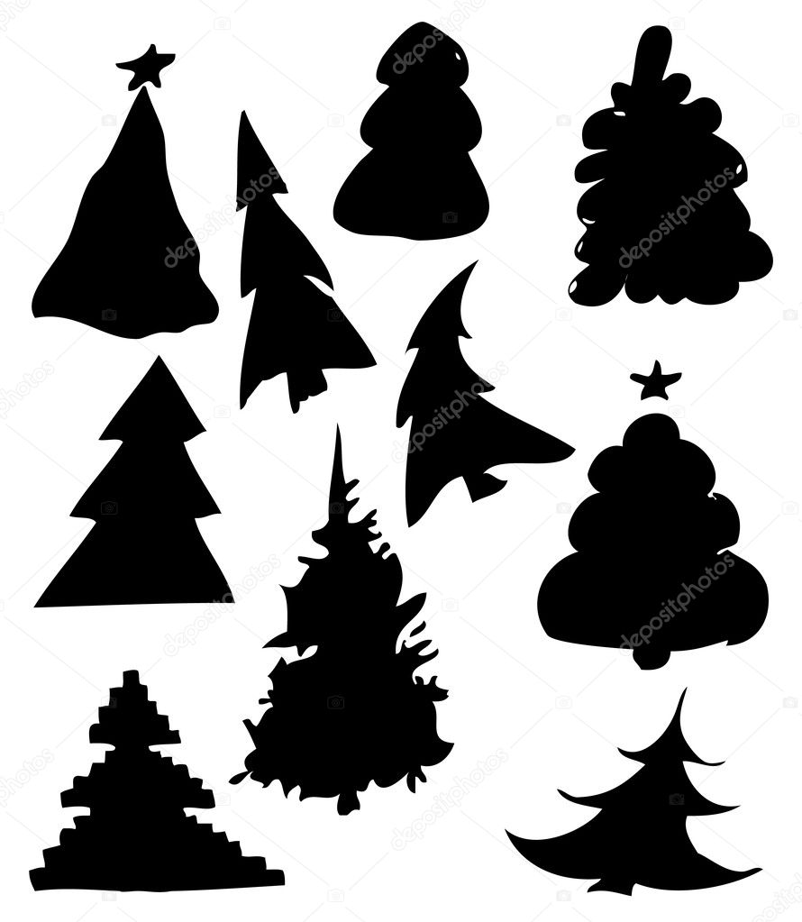 Fur-trees illustration   Stock Photo #1628129
