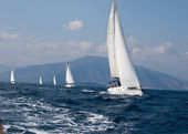 Yachts competition — Stock Photo