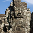 Cambodian stone face - Stock Photo