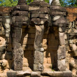 Stock Photo: Three head cambodielephant