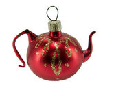 Christmas teapot toy — Stock Photo