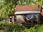 Typical cambodian house — 图库照片