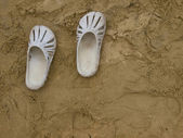Sand shoes — Stock Photo