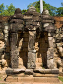 Three head cambodian elephant — Stock Photo