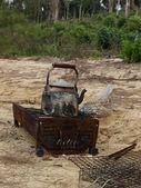 Kempování na pustém ostrově — Stock fotografie