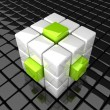 Cube_extrude_WG — Stock Photo
