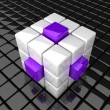 Cube_extrude_WV — Stock Photo