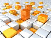 Boxes_orange_high — Стоковое фото
