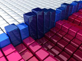 Histogram from boxes — Stock Photo